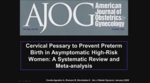 Cervical Pessary To Prevent Preterm Birth